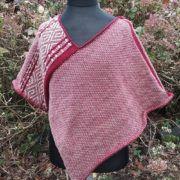 poncho rouge en laine