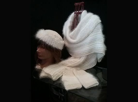 Vêtements de mariage en laine angora bio
