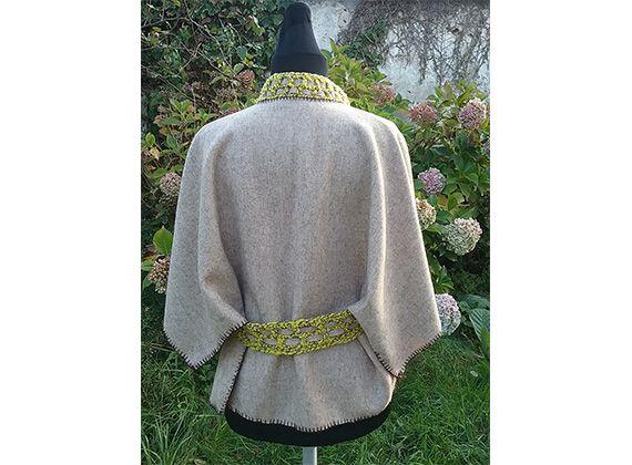 Vêtement en laine de mouton solognote élevé en bio