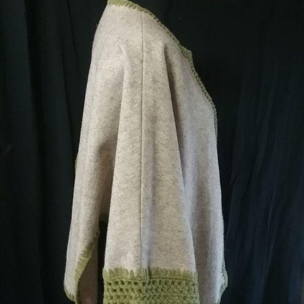veste cape drap de laine teinture végétale tanaisie