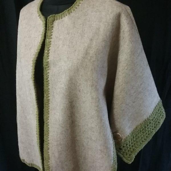 cape drap de laine Teinture végétal tanaisie