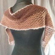 écharpe alpaga couleur naturelle au crochet